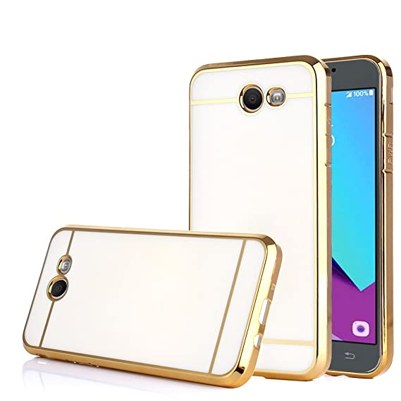 best authentic a93f0 b549c TabPow Galaxy J3 Emerge Case, Electroplate Slim Glossy Finish, Drop  Protection, Shiny Luxury Case for Samsung Galaxy J3 Prime/Galaxy J3  Emerge/Amp ...