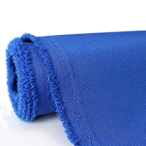 Waterproof Canvas Fabric Outdoor 600 Denier Indoor/Outdoor Fabric by The Yard PU Backing UV Protector Canvas Marine Awninig Fabric Royal Blue (10 - Indoor Canvas Outdoor