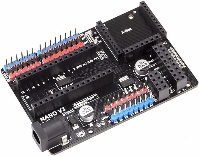 XO Nano V3 I/O & Shield Nano – inalámbrica para Arduino XBee nrf24 esp2866 APC: Amazon.es: Electrónica