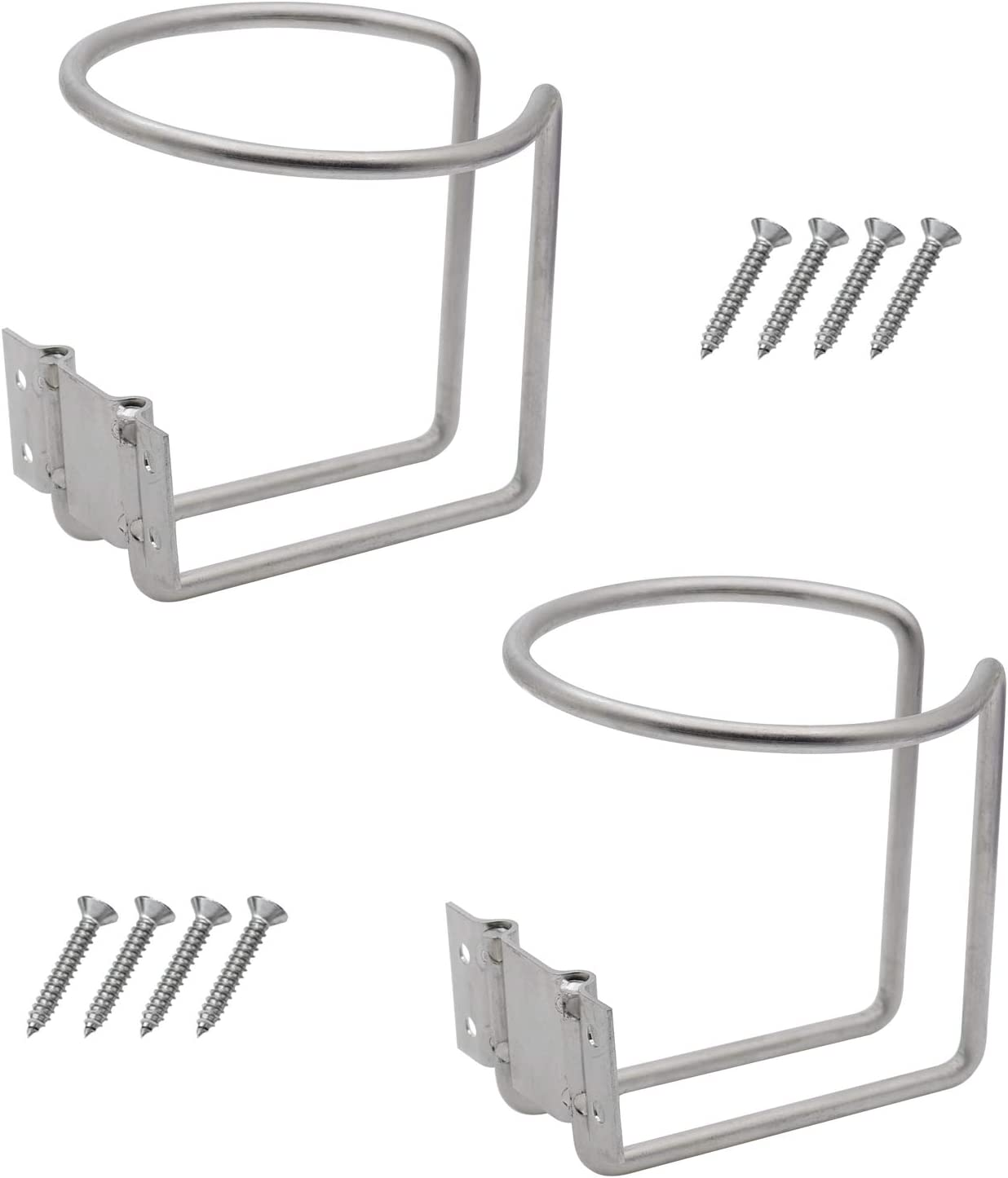 DGQ 2pcs Stainless Steel Boat Ring Cup Drink Holder for Marine Yacht Truck RV Camper