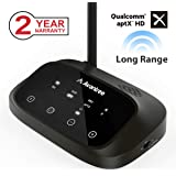 [Premium Version] Avantree Oasis Plus aptX HD Long Range Bluetooth Transmitter Receiver for TV Audio, Home Stereo, Optical Wired & Wireless Simultaneously, Dual Link Low Latency