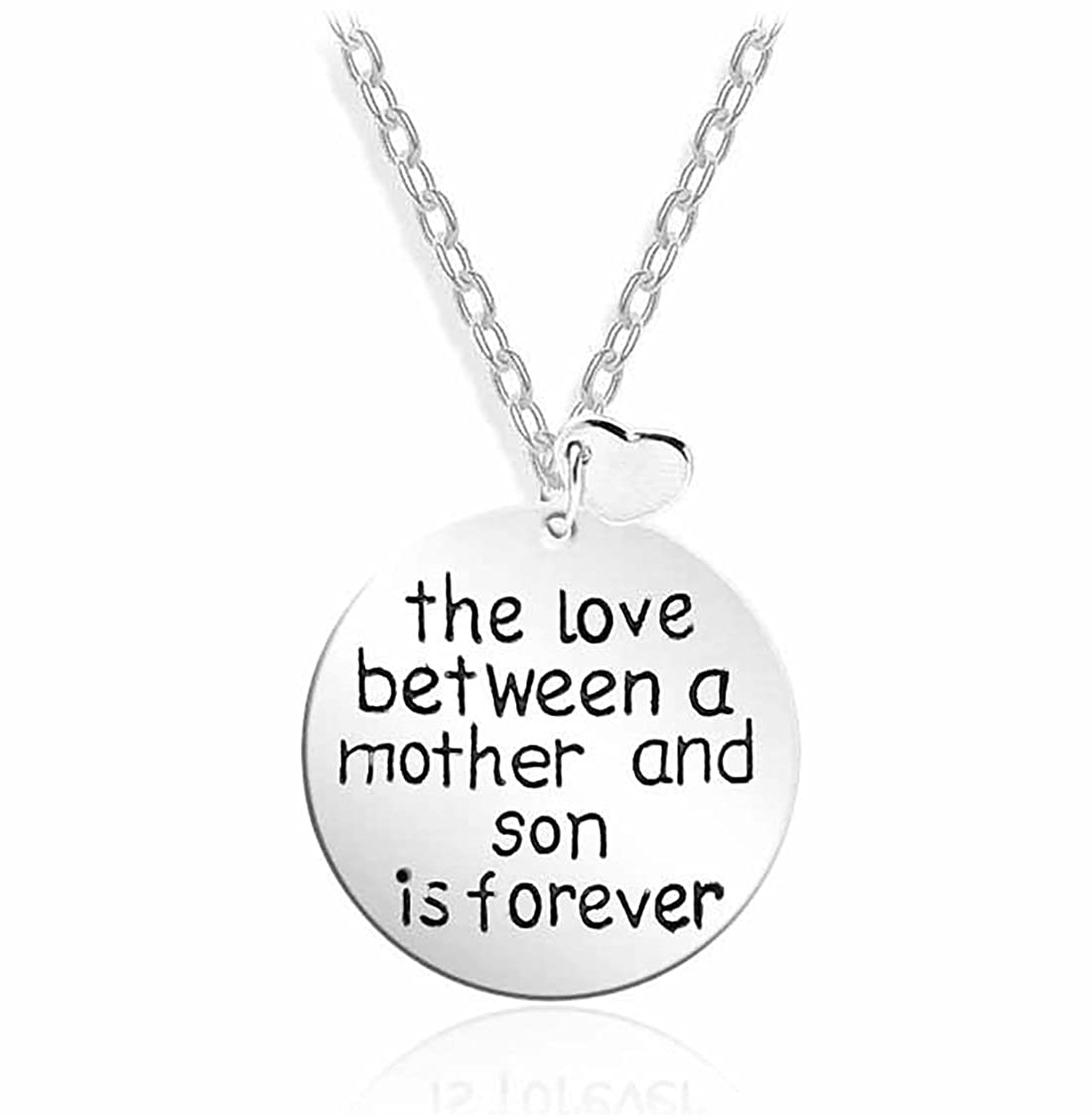 Family Dog Tag Necklace,Dad Mom Daughter Son The Love Between is Forever Charm Pendant Necklace Love Gift for Women Men Girls Boys SwanElegant