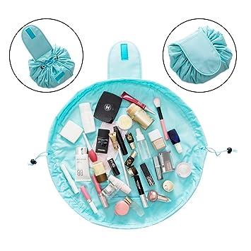 Organizador de bolsas de maquillaje, bolsa de viaje grande para cosméticos, gran capacidad, portátil, resistente al agua, gran organizador de ...