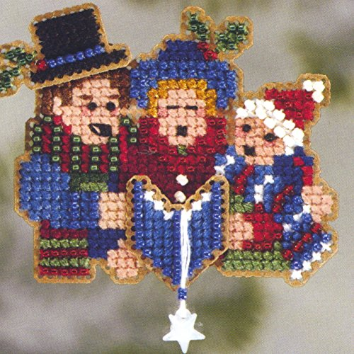 Carolers Beaded Counted Cross Stitch Christmas Ornament Kit Mill Hill 2006 Winter Holiday MH18-6302 ()