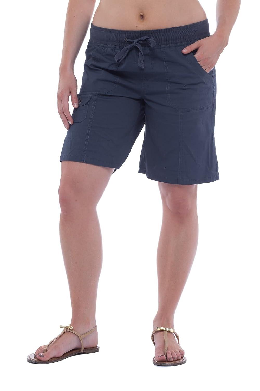 Alki'i Women's Casual Bermuda Shorts with Roll-up Leg 2140