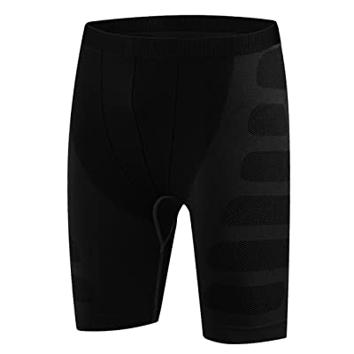 SEVENWELL Men's Thermal Compression Shorts Performance Baselayer Active Cool Dry Running Tights