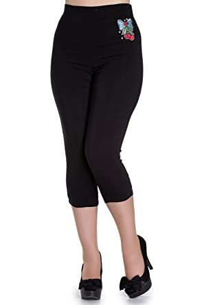b848cc89cc Hell Bunny Anna 50's Capri Trousers at Amazon Women's Clothing store: