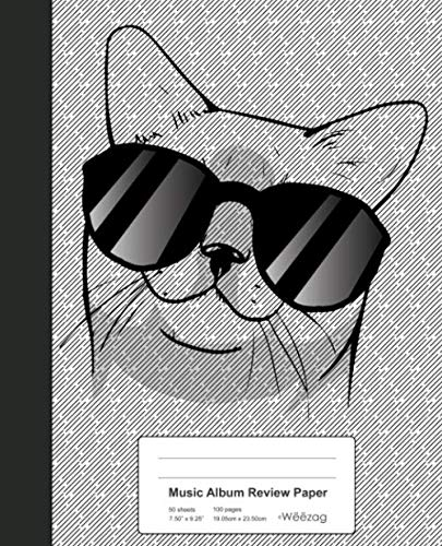 Music Album Review Paper: Book European Burmese Cat (Weezag Music Album Review Paper Notebook)