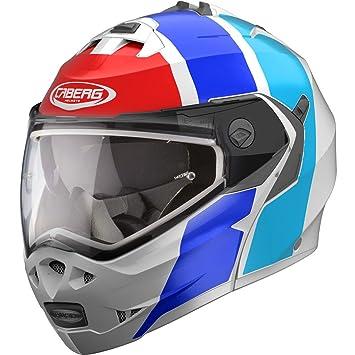 Caberg Duque II Impacto Blanco/Azul/Rojo Casco de la Motocicleta Tamano S