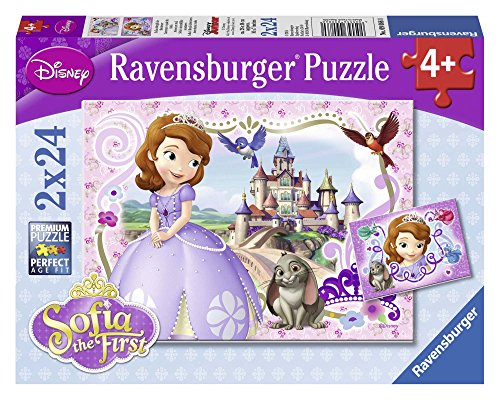Ravensburger Sophia the First: Sofia's Royal Adventures Puzzles in a Box 2 x 24 Piece Jigsaw Puzzle for Kids - Every Piece is Unique, Pieces Fit Together Perfectly ()