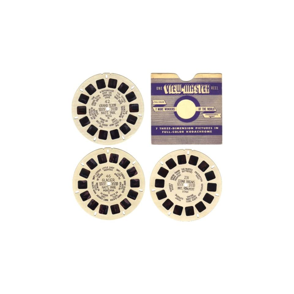 Vintage 1943 1946 Sawyers View Master Reels #42, #46, #231 U.S. National Parks and Monuments