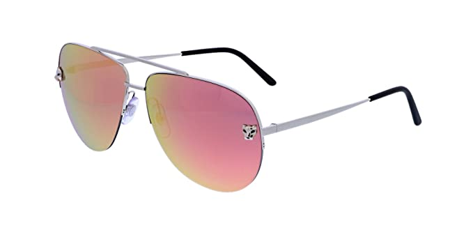Cartier Gafas de Sol PANTHÈRE ESW00175 SMOOTH PLATINUM/PEACH ...