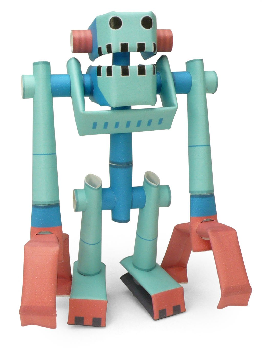 PIPEROID Muscle Joe Paper Craft Robot kit from Japan Old Package