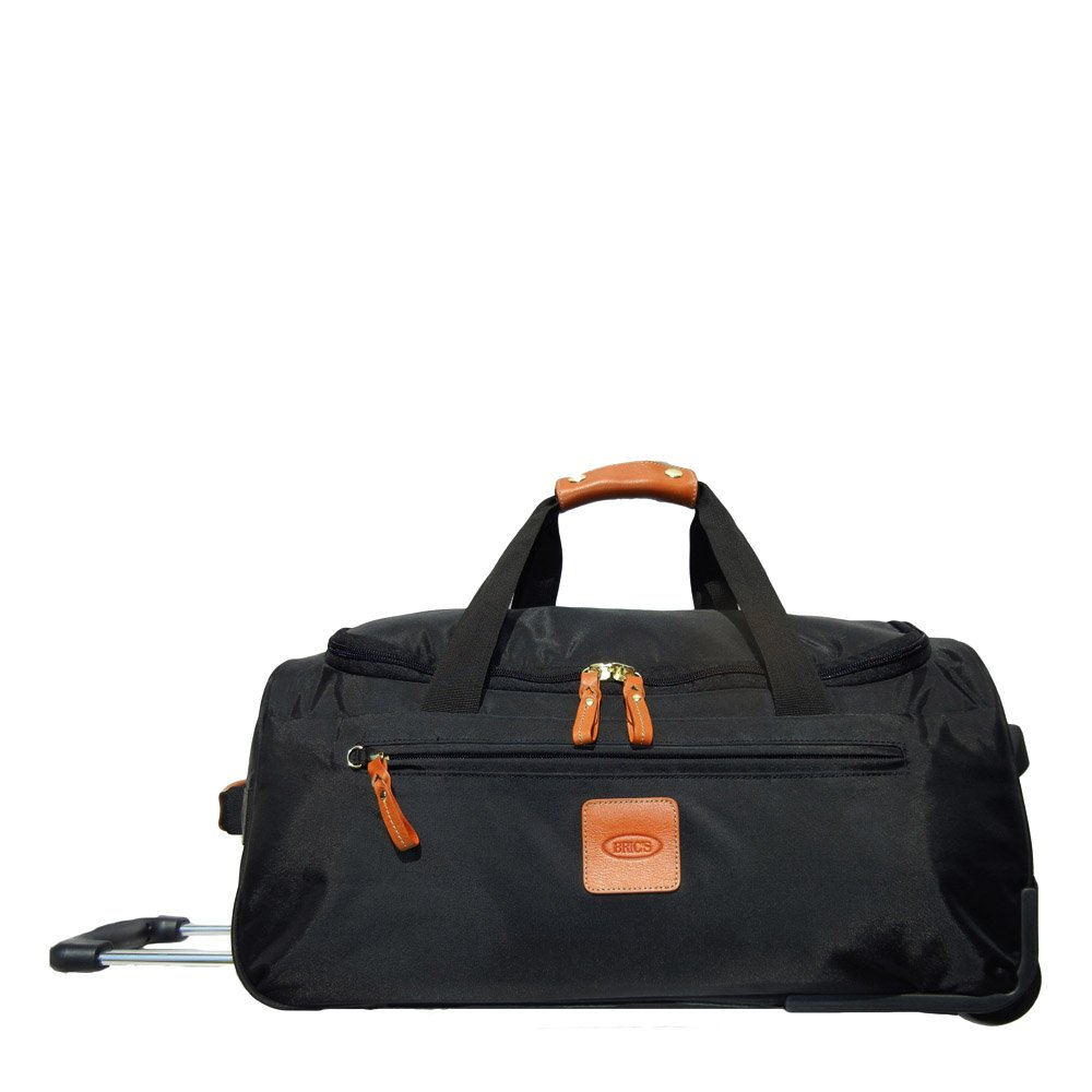 Black One Size Brics Luggage X-Bag 21 Inch Carry On Rolling Duffle