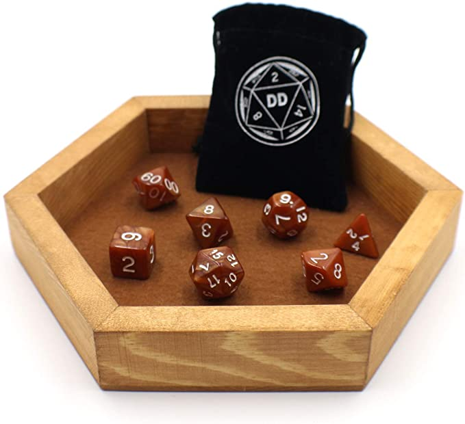 Dice tray Dungeons and Dragons vintage comics D/&D resin wooden tray