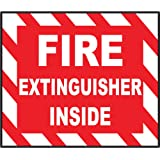 "Fire extinguisher inside sign sticker decal 5"" x 4"""
