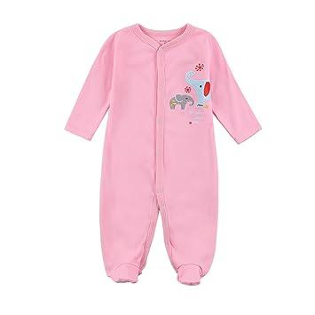 e2e641147c6f6 長袖ボディースーツ ベビー カバーオール 冬 女の子 足つき 長袖 肌着 赤ちゃん ロンパース 前開き 新生児 下着