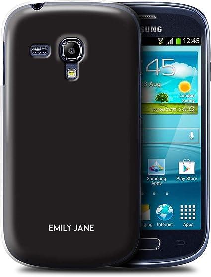 Personalizado Paleta Colores Personalizar Funda para el Samsung Galaxy S3 Mini/Regaliz Negro Diseño/Inicial/Nombre/Texto Carcasa/Estuche/Case: Amazon.es: Electrónica