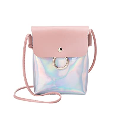 Women Fashion Laser Cover Ring Hasp Crossbody Bag Shoulder Bag Coin Phone Bag womens handbags totes