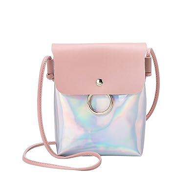 Women Fashion Laser Cover Ring Hasp Crossbody Bag Shoulder Bag Coin Phone Bag womens handbags totes