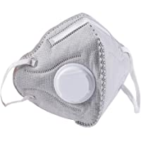 BC N95 Particulate Respirator Mask 20 Pack Disposable Dust Mask with Exhalation Valve for Construction Cleaning Air Pollen Allergy Woodworking Gardening Sanding Painting