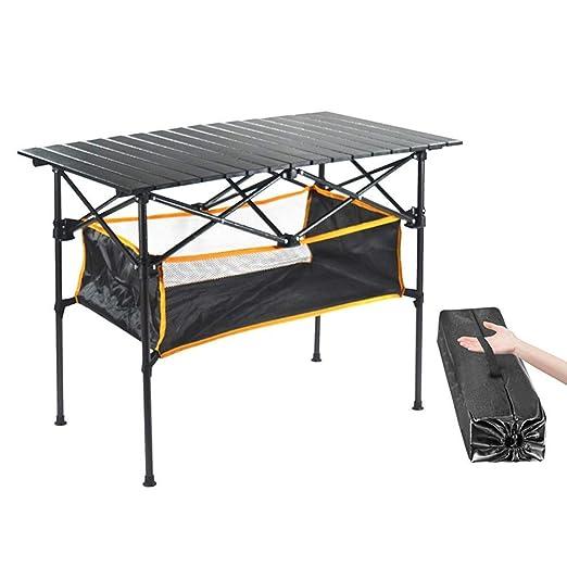 Tavoli Da Giardino In Alluminio Pieghevoli.Pieghevole Tavolo Da Picnic In Lega Di Alluminio Portatile Leggero