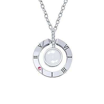 Amazon cuidado 925 sterling silver projective necklace the cuidado 925 sterling silver projective necklace the memory of love nanotechnology necklace 100 different thecheapjerseys Choice Image