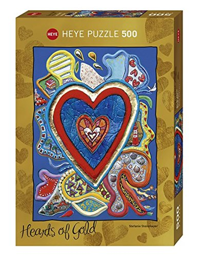 Heye Red & Blue 500 Piece Hearts of Gold Jigsaw Puzzle