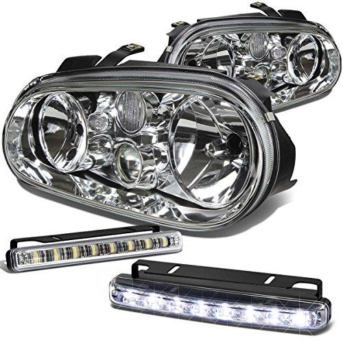 Mk4 Chrome Housing Headlight+DRL 8 LED Fog Light ()