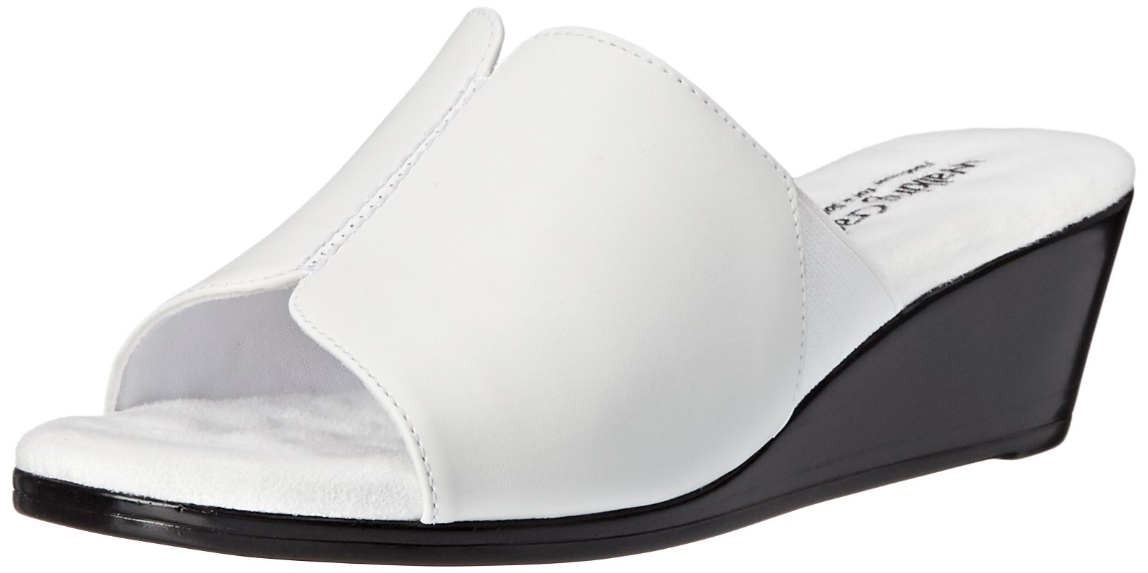 Walking Cradles Women's Nestle Wedge Sandal, 7.5 W US, White Cashmere