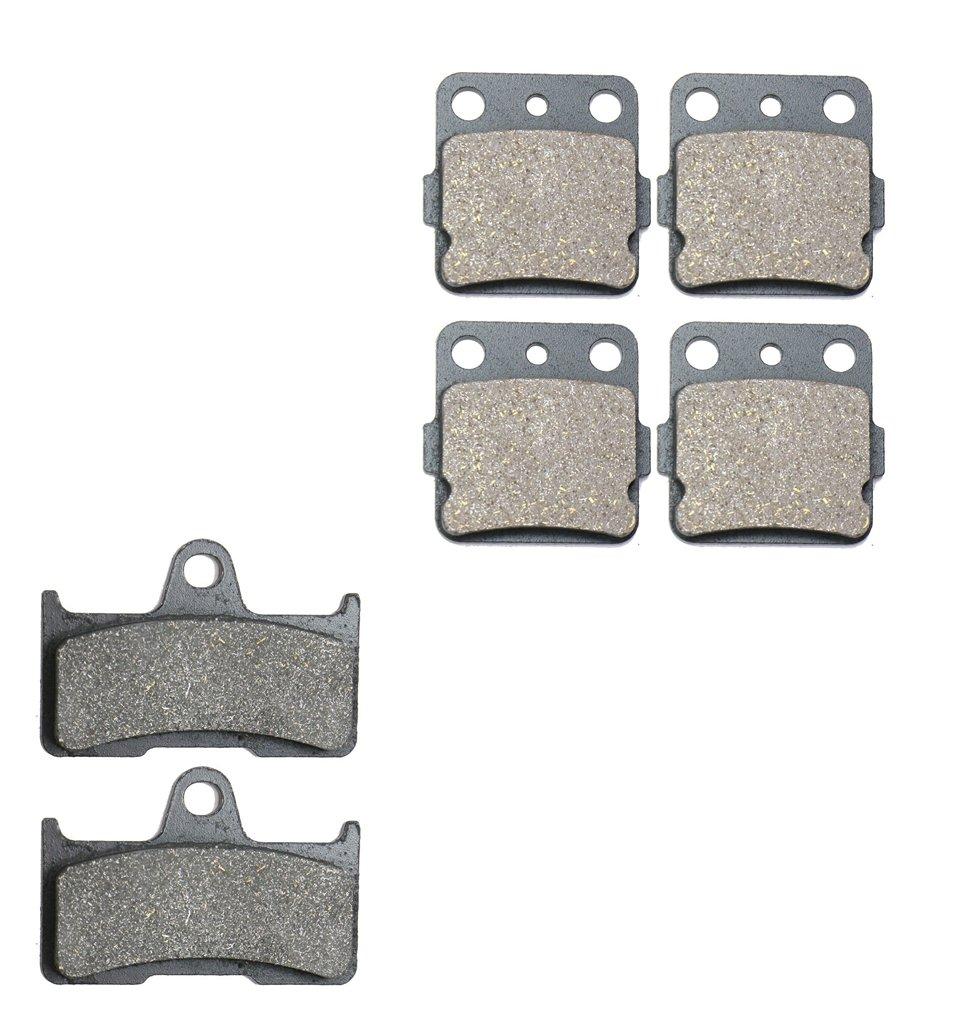 CNBK Semi Metallic Brake Shoe Pads Set for YAMAHA ATV Bike YFM660 YFM 660 cc 660cc FWAP FWAR FWAS FWAT FWAW FGW FGX Grizzly 02 03 04 05 06 07 08 2002 2003 2004 2005 2006 2007 2008 6 Pads