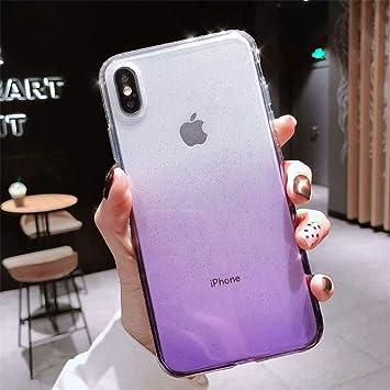NHSCDZ La Caja del teléfono Funda de Brillo de Colores para iPhone ...