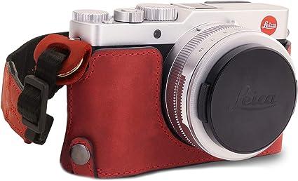 Megagear Ever Ready Echtleder Kameratasche Mit Trageriemen Kompatibel Mit Leica D Lux 7