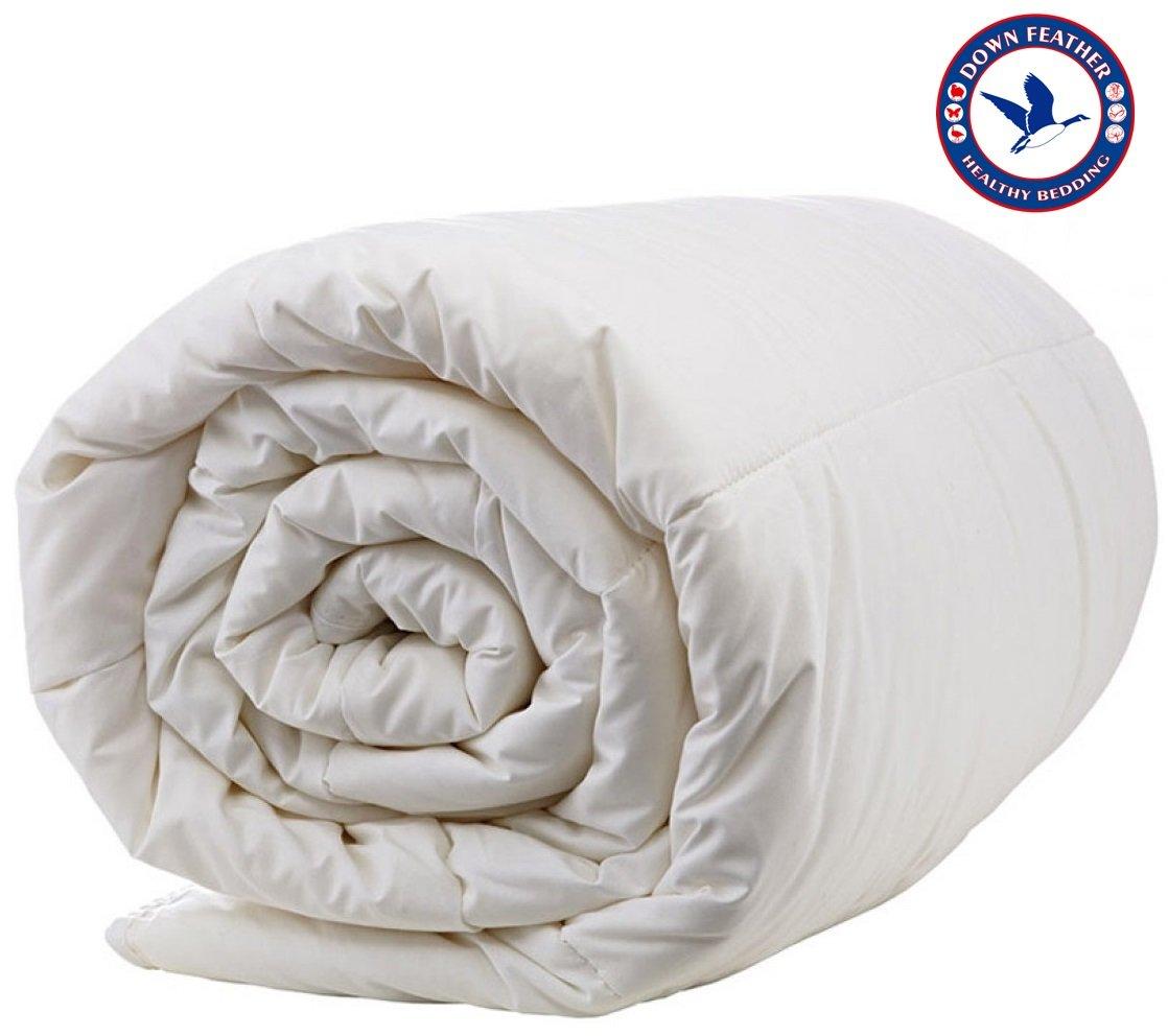 Organic All Season Australian Wool Filled Duvet (Woolmark & Oeko-Tex Quality Certified - Washable) Double - 80'' x 88'' KCL
