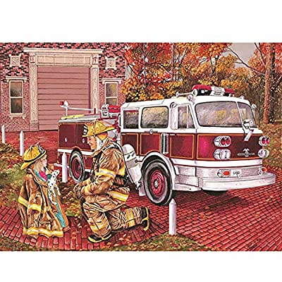 Children Wooden Jigsaw Puzzle 1000 Pieces Cartoon Fire Truck Daughter Hero Adults Leisure Creative Puzzle Games Art Toys Puzzles: Toys & Games