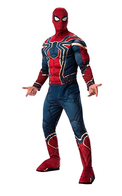 Marvel - Disfraz de Spiderman Iron Spider para hombre (Infinity Wars), Talla XL
