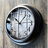CLG-FLY Loft industrial heavy metals air continental retro wall clock vintage creative personality bars American decorative wall hanging,Other,Vintage silver