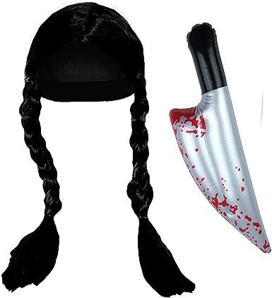 Paper Umbrella Paraguas de Papel para Disfraz de Miércoles de la Hija y el Miércoles, Juego de Accesorios para Peluca y Cuchillo, Color Negro: Amazon.es: Ropa y accesorios
