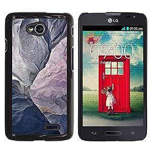 Be Good Phone Accessory // Dura Cáscara cubierta Protectora Caso Carcasa Funda de Protección para LG Optimus L70 / LS620 / D325 / MS323 // Mountain Grey Texture Cliff Climbing