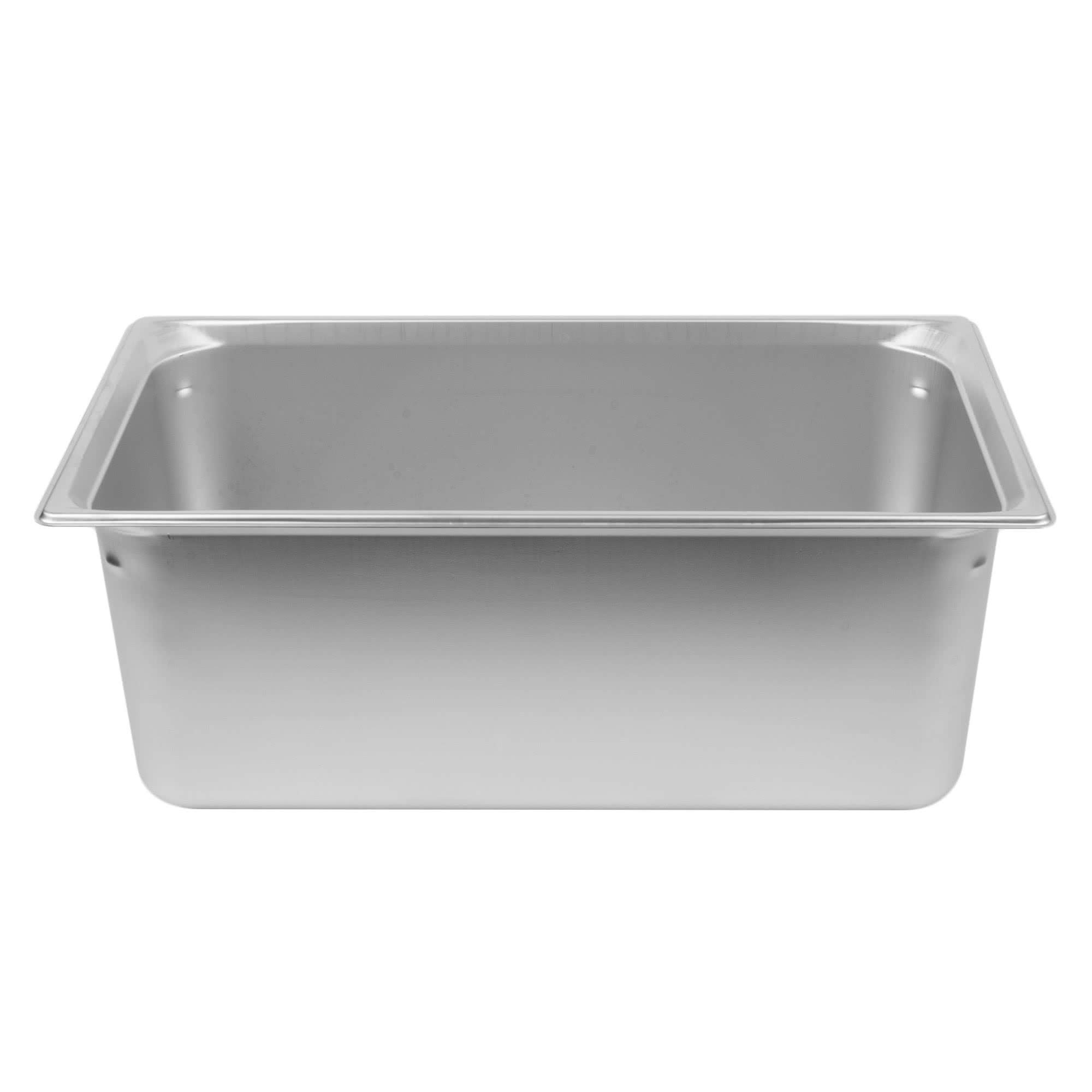 TableTop King 90082 Super Pan 3 Full Size Anti-Jam Stainless Steel Steam Table/Hotel Pan - 8'' Deep by TableTop King