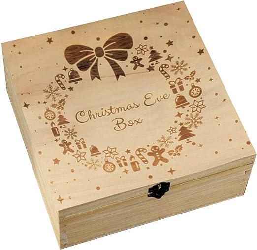 Caja de madera para regalo de Navidad o para niños, diseño de copo ...