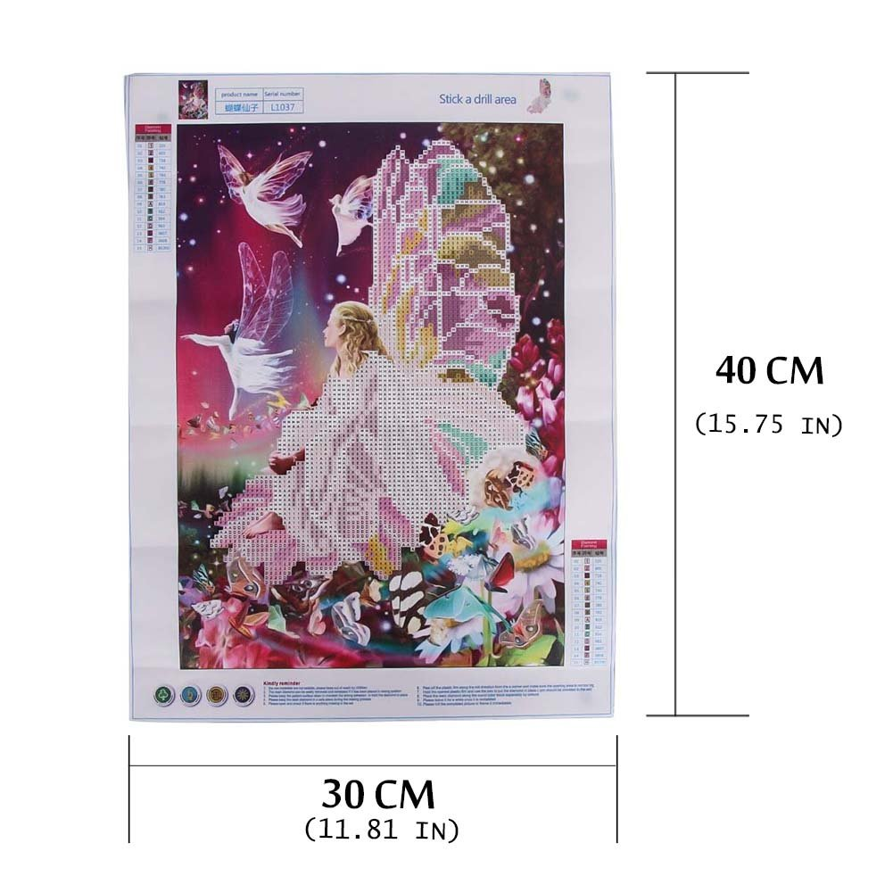 GbaoY 5D DIY Diamond Painting Kits Angel-4 11.8*15.7 Inch Crystal Embroidery Cross Stitch Rhinestone Embroidery Drawing Art for Craft Home Wall Decor