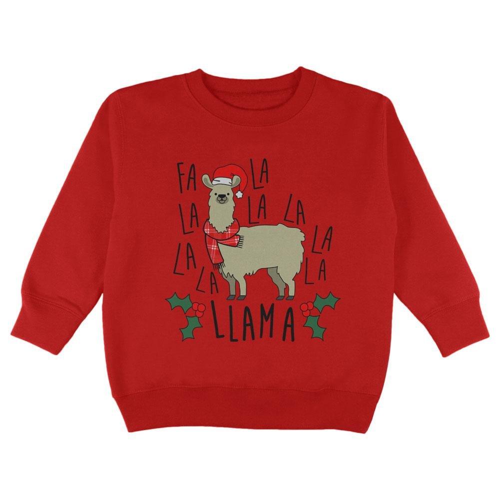 Old Glory Christmas FA LA Llama Toddler Sweatshirt 00180589