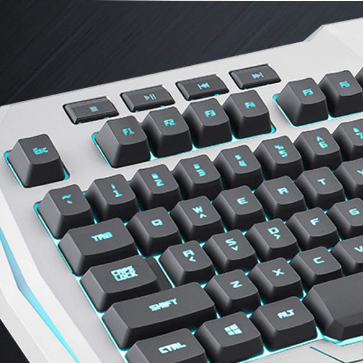 Color : Silver Noble Desktop Notebook Universal Cable Style White, 49214cm Jiansheng01 Keyboard Robotic Esports Computer Keyboard