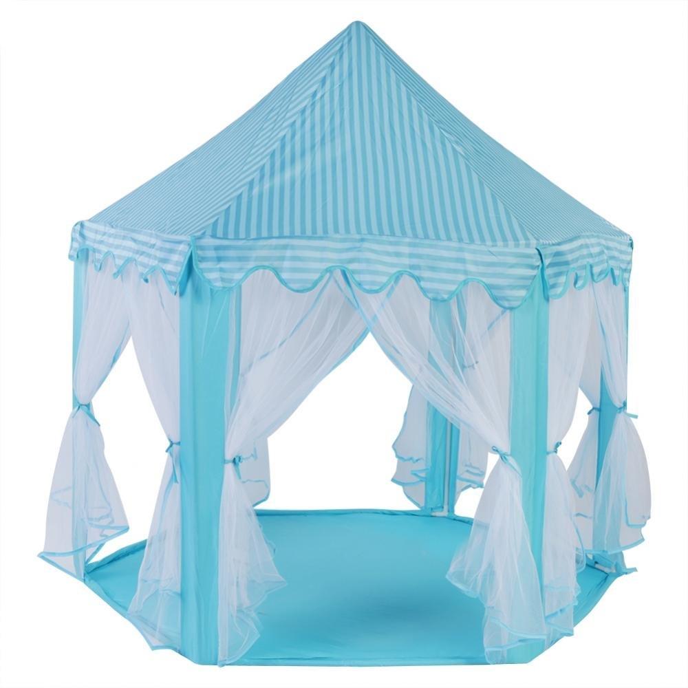 FTVOGUE 美しい子供のお城 おもちゃテント 折りたたみ式 ポータブル 屋内 屋外 ゲーム プレイハウス FTVOGUEexkcfosnu6-01 B07J4WZLDF 1