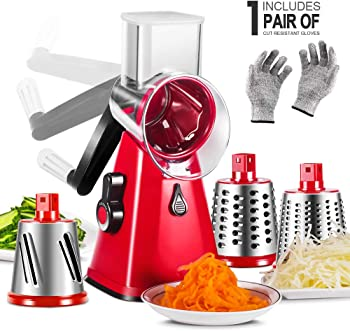 Masthome Rotary Cheese Grater with Suction Cup Base