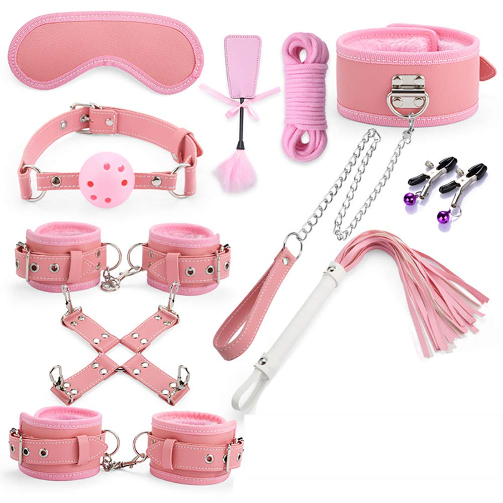 SGGMRR SM Binding Set Bound BDSM, Beginners Bundle Extreme Bed Blindfold Lovers, Fetish Set Sex Toys 10pcs, Double Experience, Super Orgasm by SGGMRR