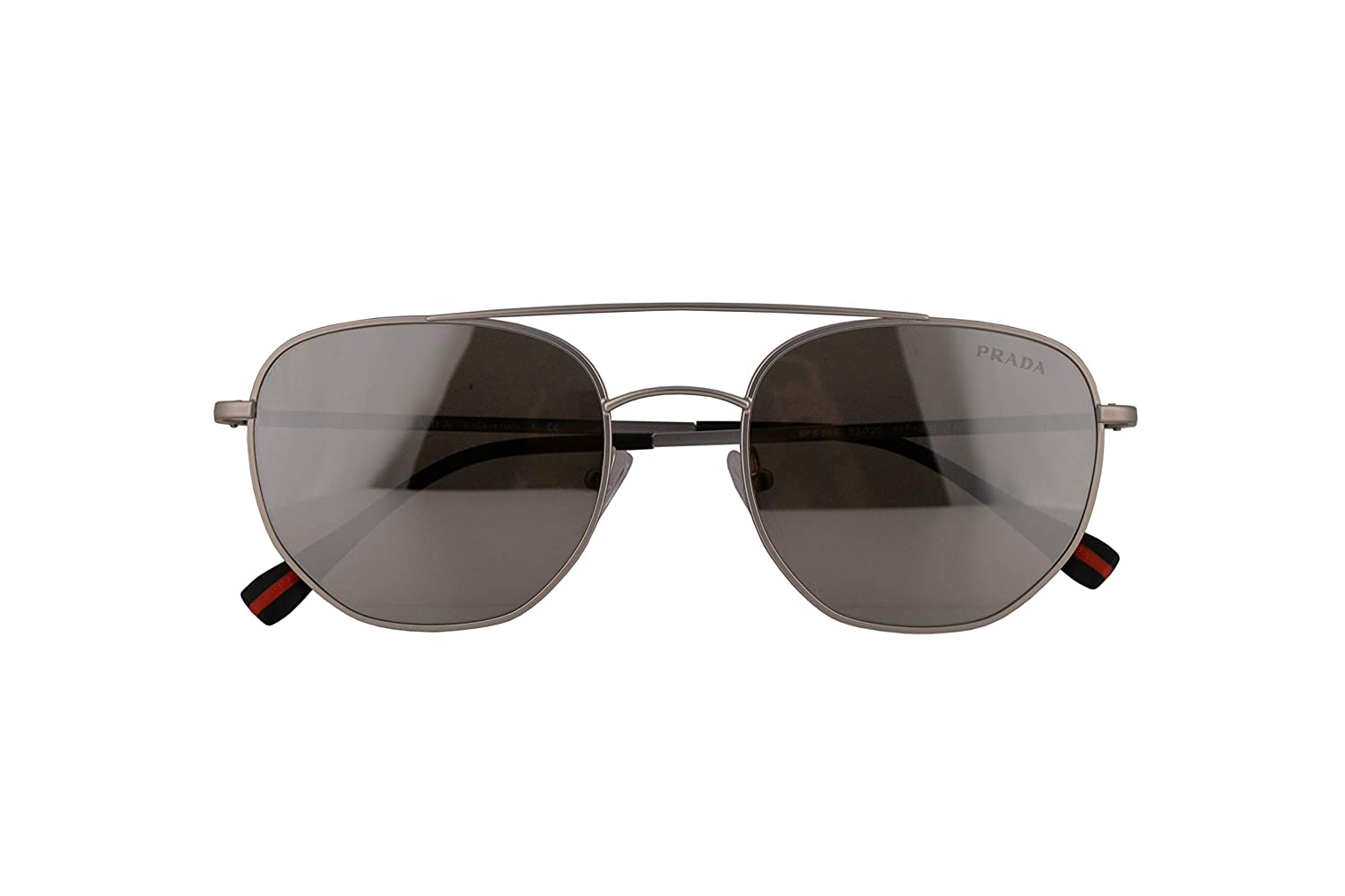 964357c0b Amazon.com: Prada PS56SS Sunglasses Matte Silver w/Light Grey Mirror Silver  53mm Lens 1AP2B0 PS 56SS SPS 56S SPS56S: Clothing