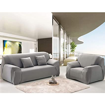 Amazoncom Haihuic Stretch Sofa Cover Couch Cover 2 Seater