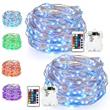 String Lights LED USB Decorative Rope Lights, Remote Copper Wire for Bedroom Patio Garden Party Wedding Commercial